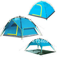 Wholesale Auto Fiberglass - Wholesale-NEW style three uses 4 person automatic tent,high class tent, one second auto tent,free shipping