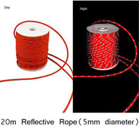 Wholesale Tent Cords - Wholesale-5mm Reflective Guyline Canopy Tent Rope Guy Line Camping Cord Paracord Free Shipping