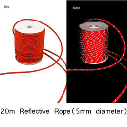Wholesale Paracord Reflective - Wholesale-5mm Reflective Guyline Canopy Tent Rope Guy Line Camping Cord Paracord Free Shipping