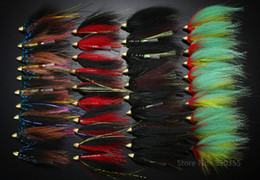 Wholesale Soft Lure Red Head - Wholesale-40Pcs Tube Flies Cone Heads Black Red Green Salmon And Sea Trout Fly Fishing Flies Lures