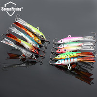 Wholesale Saltwater Lures Heads - Wholesale-Ice Fishing Jig Head Hard Lure Wobbler 3Pcs Lot 7.7cm 15g Pcs jigging Lure With Treble Hook For winter Fishing