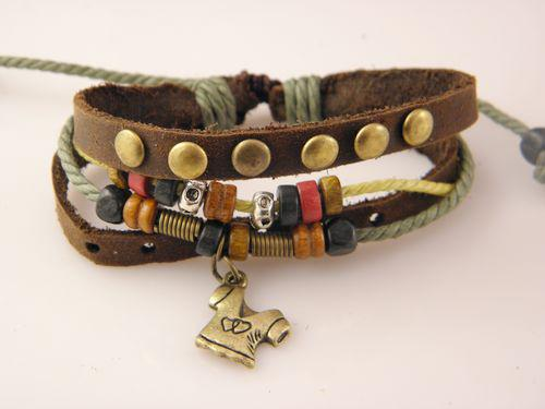 Brand New Tribal Leather Surf Bracelets Handmade Jewelry Mens Fast