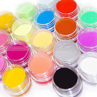 Wholesale Choice Decor - Wholesale-18Pcs Colors Nail Art Sculpture Carving Acrylic Powder Tips Decor Girl's Choices