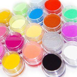 Wholesale Powder Acrylic - Wholesale-18Pcs Colors Nail Art Sculpture Carving Acrylic Powder Tips Decor Girl's Choices