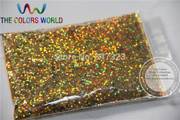 Wholesale Gel Nail Powders - Wholesale-1.0MM Laser Gold Glitter Powder ,Holographic Glitter for nails ,nail gel ,cosmetic and DIY art decoration 1bag=50g