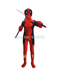 Wholesale Kids Deadpool Costumes - Wholesale-Children deadpool costume fullbody red black kids deadpool costumes for halloween party show ,Unisex, XS S M L XL XXL