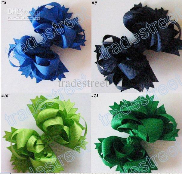 Envío gratis 60pcs Boutique pelo arcos 5.5 pulgadas Boutique Funky Hair Bow color de la mezcla C04