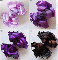 Wholesale Funky Red - free shipping 60pcs Boutique hair bows 5.5 inches Boutique Funky Hair Bow mix color C05