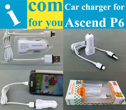 Wholesale Ascend D2 - Wholesale-USB Car Charger for Huawei Ascend P6 P2 P1 W2 W1 Y300 Y200 U8833 T8833 G700 G610 G610s G600 G300 D2 D1 5V 1A High quality