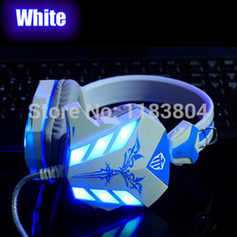 Wholesale Msn Headset - Wholesale-Super hot Stereo LED Shinning Gaming Headset Headphone Earphone with Microphone Razer Gamer MSN PC headset * free shipping