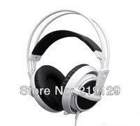 Wholesale Headphones Drop Shipping - Wholesale-SteelSeries Siberia V2 Headset for Gamers and Audiophiles Headphone White Free Shipping Drop Shipping 1PCS