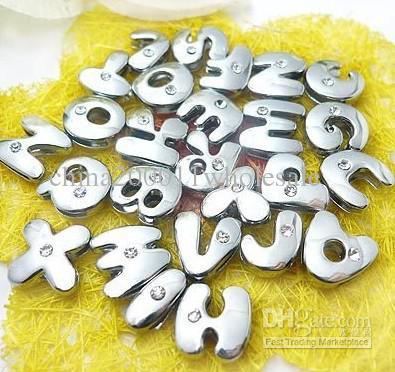 8 mm A-Z 8 MM cartas de diapositivas de grasa etters caben 8 mm wristband / collar del animal doméstico
