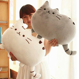 Wholesale Toy Dolls Brinquedos - Wholesale-40*30cm Plush Toy Stuffed Animal Doll Talking Animal toy Pusheen Cat For Girl Kid Kawaii Cute Cushion Brinquedos Free Shipping