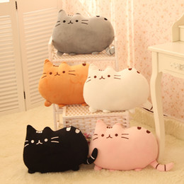 Wholesale-Novelty item soft plush stuffed animal doll,talking anime toy pusheen cat for girl kid;kawaii,cute cushion brinquedos, birthday Coupon
