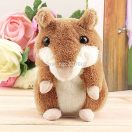 2017 dropshipping plush Vente en gros de gros 1pcs Lovely Talking Hamster Peluche Toy Hot Cute Speak Talking Sound Record Hamster DropShipping dropshipping plush pas cher