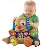 Wholesale Dog Laugh Learn - Wholesale-hot musical Dog Laugh and Learn Love to Play Puppy Baby Plush Musical Toys Singing English Songs