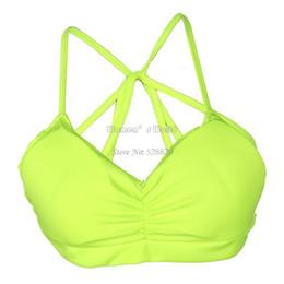 Wholesale womens bustier tops - Wholesale-Summer xy Padd Womens Seed Bra Cropach Tank Tops Tops Vest Cross Strap Bustier Be Plus Size 18