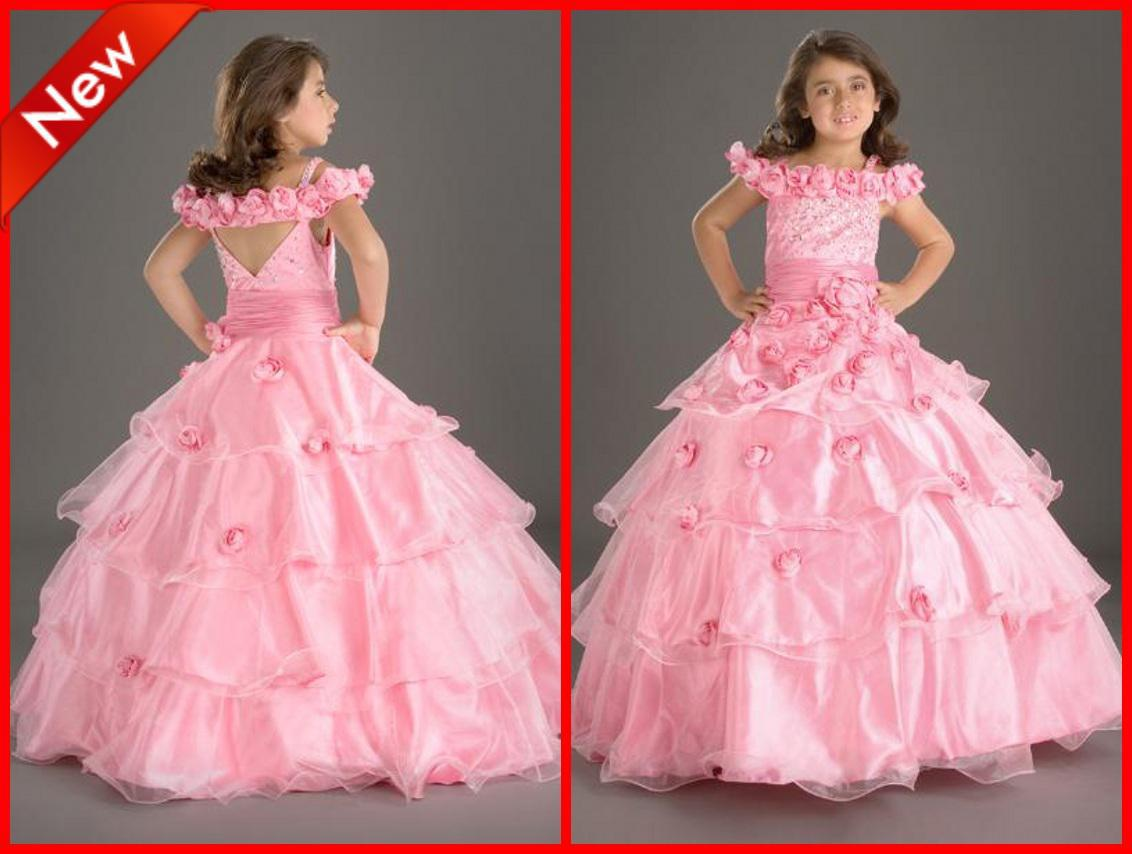 Wow hot pretty pink flower girl dresses ball gown off the hot pretty pink flower girl dresses ball gown off the shoulder floor length flowers sequins pretty dresses for girls toddler dress shoes from masonbridal mightylinksfo