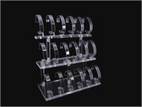 Wholesale Enamel Watch Pendant - Wholesale Free shipping 18 SL1OTS DESK SHELF CLEAR ACRYLIC WRIST WATCH RETAIL DISPLAY RACK HOLDER STAND
