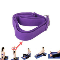 Wholesale Exercise Belt For Free - Wholesale-Yoga Strap Stretch Belt Gym Exercise Webbing Workout Fitness Rope Fashion For Free Shipping