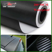Wholesale Vinyl Wrap Carbon Fiber - Wholesale-200X50 CM 3D carbon fiber vinyl film  carbon fibre sticker (78.7X19.7)--10 color option FREESHIPPING car sticker 3D carbon wrap