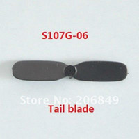 Wholesale Spare Parts Planes Helicopters - Wholesale-100pPCS Free shipping S107G-06 Tail Blade spare parts for 22cm S107G SYMA 3ch Gyro R C Mini Helicopter RC plane S107