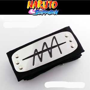 Wholesale Anime naruto headband Leaf Village Logo Konoha Uchiha Itachi Kakashi Akatsuki Members cosplay costume Accessories
