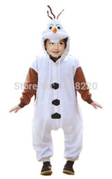 Wholesale Kids Onesie Pajama - Anime Cosplay Olaf Snowman Cosplay Unisex Pajama Onesie Party Halloween Costumes Dresses Jumpsuit Kids Children Boy Girl