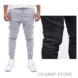 Wholesale Harem Skinny Sweatpants - Wholesale-Fashion Biker Joggers Jogging Slim Fit Skinny Sweatpants Harem Pants Man Hip Hop Swag Clothes Clothing Men Gray Black Kanye West