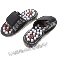 Wholesale Foot Massage Shoes - Wholesale-Foot Acupuncture Acupoint Massage Shoes Reflex Massage Slippers Health care Foot shoes Moxibustion Massage Sandals BZ671838