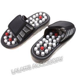 Wholesale Heels Care - Wholesale-Foot Acupuncture Acupoint Massage Shoes Reflex Massage Slippers Health care Foot shoes Moxibustion Massage Sandals BZ671838