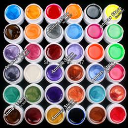 Wholesale Acrylic Nails Pearl Decoration - Wholesale-New 36 PCS Mix Colors Pearl UV Builder Gel Acrylic Nail Art Set for Nail Tips