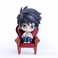 """Wholesale Death Notes - Wholesale-Anime Nendoroid Death Note L #17 PVC Action Figure Collectible Toy 4"""" 10CM MNFG028"""