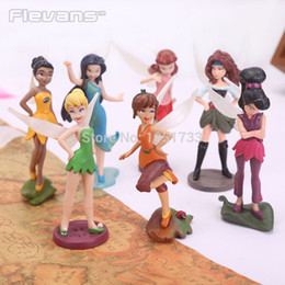 Wholesale Tinkerbell Action Figure Sets - Wholesale-Tinkerbell Fairy Adorable Tinker Bell Action Figures Retail Dolls Gift For Children 7pcs set