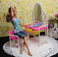Wholesale Dress Minimum Order - Wholesale-Doll furniture accessories toys fancy classical dresser dressing table with chairs ( Mixed minimum order $8)