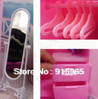 "Wholesale Children Furniture Wholesale - Wholesale-new arrival birthday gift for children girl 11 1 2""Doll's Wardrobe sets furniture for barbie doll"