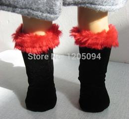 "Wholesale American Girl Black Boots - Wholesale-Doll clothes,doll accessories,doll black boots for 18"" american girl doll alexanda,girl's Christmas birthday gift ,free"
