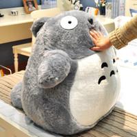 lindo peluche totoro al por mayor-Venta al por mayor- 60cm Diseño lindo Grande Mi vecino Totoro Muñeca de peluche Animal de peluche