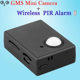 Wholesale Gsm Alarm Sms Control - Wholesale-New GSM Alarm Hidden HD Security Camera MMS&SMS Control Alarm,PIR Video Infrared Sensor,Motion Detection listenning EU