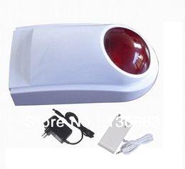Wholesale Outdoor Wireless Transmitter - Wholesale-Wireless flashing siren with transmitter,siren with strobe light,strobe siren,special working method,outdoor siren,free shipping