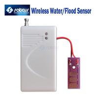 Wholesale Intrusion Detector - Wholesale-Wireless Water Intrusion Leakage Sensor Detector 433MHz