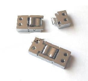 실버 색상 아연 합금 커넥터 8mm 슬라이드 매력 DIY 액세서리 맞춤 8mm 애완 동물 목걸이 팔찌 체인