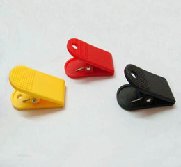 Wholesale Paper Clip Black - Brand New Pretty binder clip,paper clip,plastic clip hot black red yellow mix order 50 pcs lot