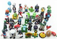 Wholesale Super Mario Action Figures Collection - Wholesale-40pcs set Plants vs Zombies PVC Action Figures 2.5-6.5cm PVZ Collection Figures Toys Gifts plant + zombies PZ015