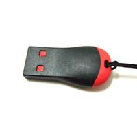 lector usb m2 al por mayor-Al por mayor-Mini Micro USB 2.0 SD TFlash TF M2 Tarjeta de lector de memoria Adaptador de alta calidad