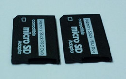 Wholesale Micro Sd Duo - Wholesale-Free Shipping 50pcs lot Micro SD SDHC TF to Memory Stick MS Pro Duo PSP Adapter