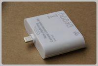 Wholesale Camera Card Readers - Wholesale-FreeShipping USB 2.0 Support iOS7 iOS6 5 in 1 Lighting Camera Connection Kit Card Reader for iPad4 iPad air iPad Mini Mini2