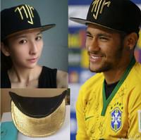 бразильские кепки оптовых-Wholesale-1000PCS Arrival golden logo Neymar JR Brazil Baseball Caps Cap hip hop Sport Snapback cap hat chapeu de sol bone masculino Men
