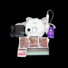 Wholesale Nail Sand Electric - Wholesale-Free Shipping 30000 RPM Pro NEW White Electric Nail Drill+300pcs Sanding bands+30pcs nail drill bit