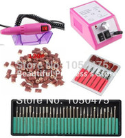 Wholesale manicure sanding bands for sale - Group buy Electric Professional pink Nail Art Drill Machine Manicure Pedicure Pen Tool Set Kit nail drill bit sanding bands